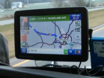 """Samantha - our navigator - says """"100 miles to Indy!"""" YAY"""