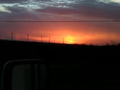 Windmills Texas Sunset