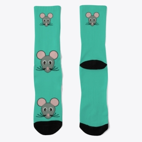 Mouse Face Socks