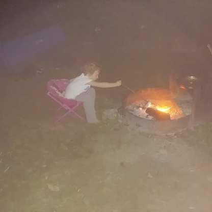 Toasted marshmallows at night